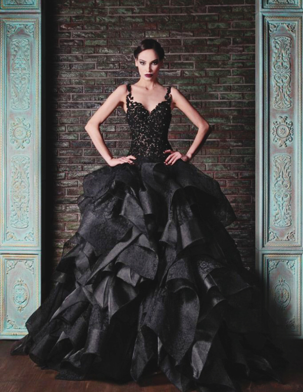 11-Rami-Kadi-Black-Bridal-Dress-2015-682x1024
