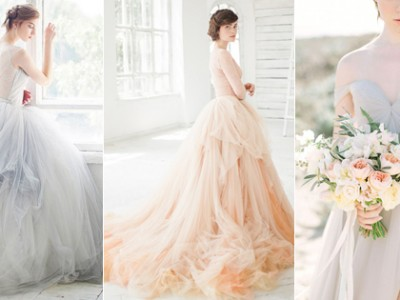 Non-traditional yet Elegant! 20 Light-Colored Wedding Dresses You Will Love
