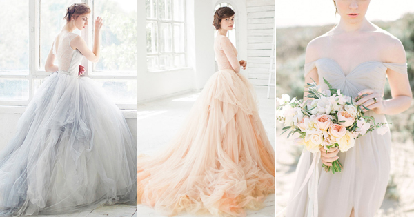 Non-traditional Yet Elegant! 20 Light-Colored Wedding