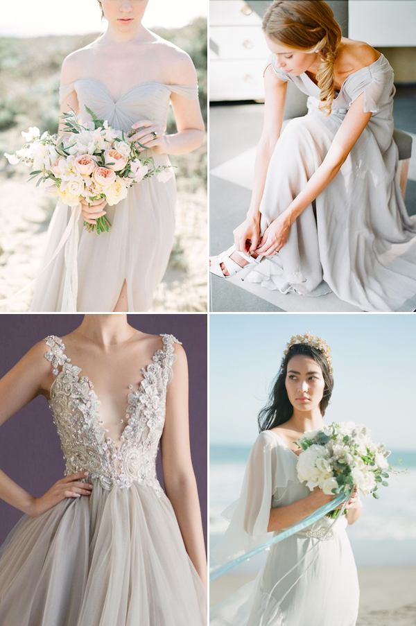 Non traditional yet elegant 20 light colored wedding for Non traditional wedding dress colors