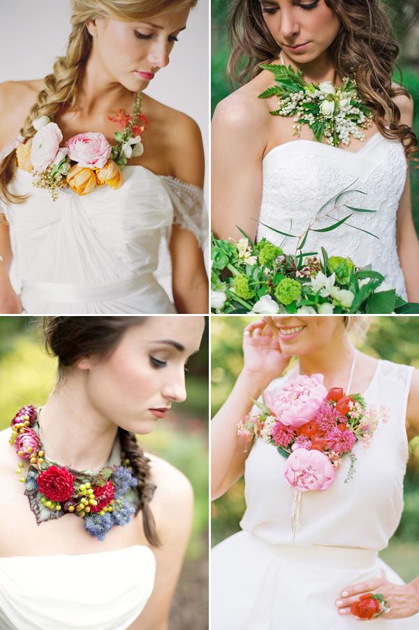 Fresh Flower Jewelry For Brides : Beautiful wearable fresh flower ideas praise wedding