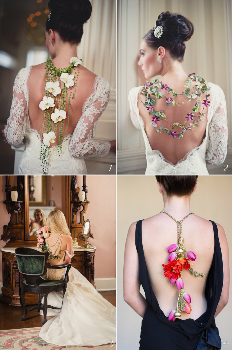 Real Flower Back Necklaces
