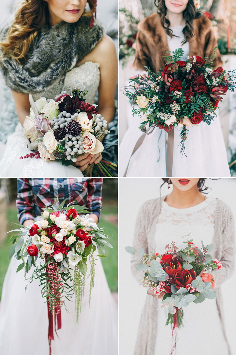 Christmas-Inspired Winter Wedding Bouquet