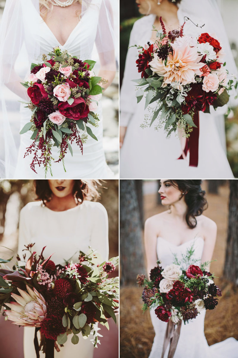 Rich Hue and Bold Colors Winter Wedding Bouquet