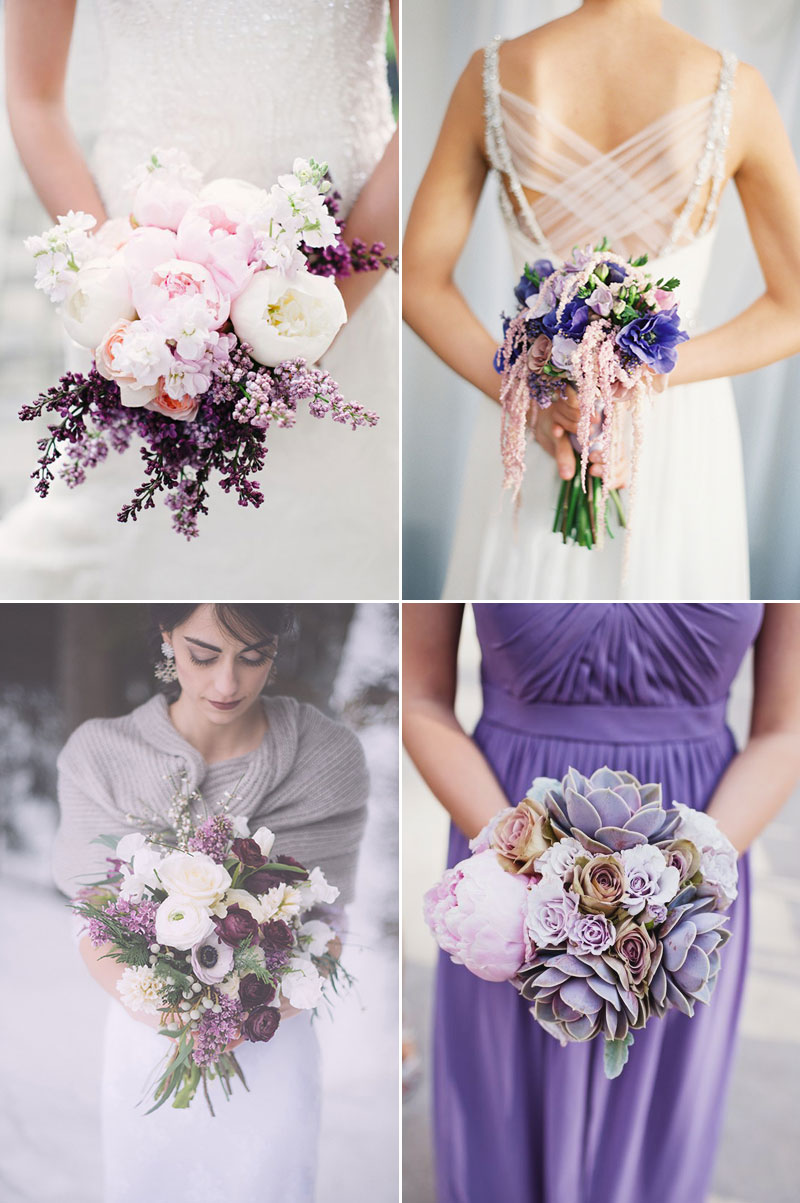 Purple Winter Wedding Bouquet