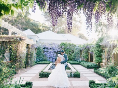 Romantic Lilac Australia Secret Garden Wedding (from Ben Yew Photography)