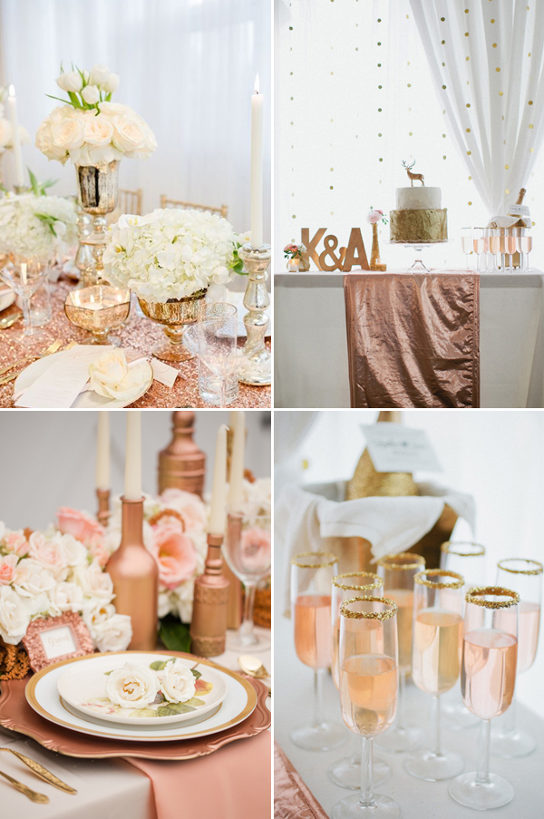 8 wedding decor trends for 2016 praise wedding for Decoration rose gold