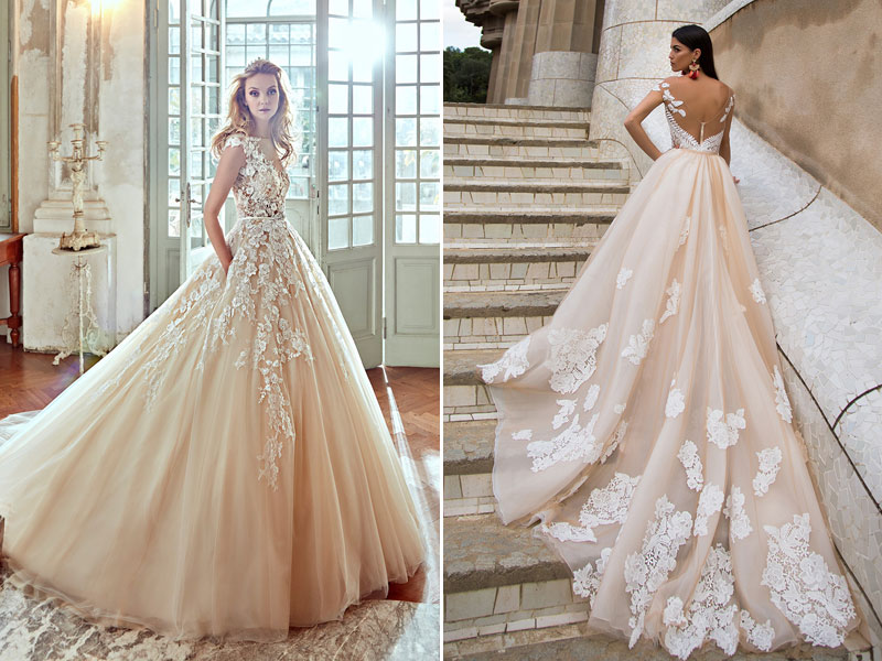 23 utterly romantic wedding dresses with snowflake inspired lace 05 nicole spose milla nova junglespirit Choice Image