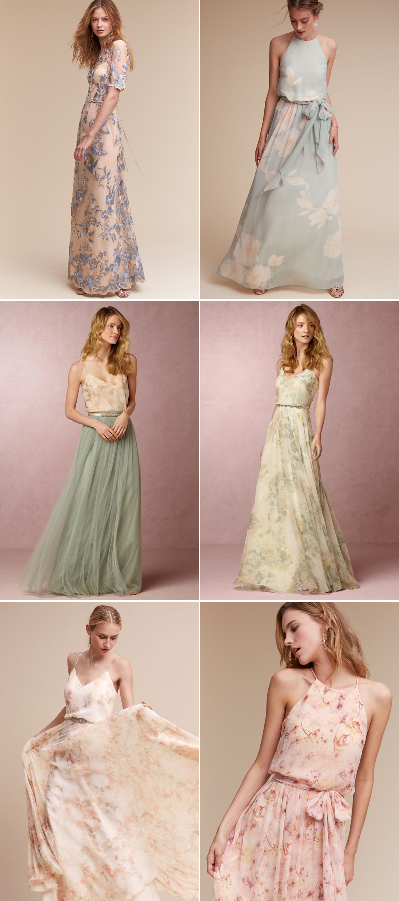 Love Blooms Romantic Floral Bridesmaid Dresses Your Girls