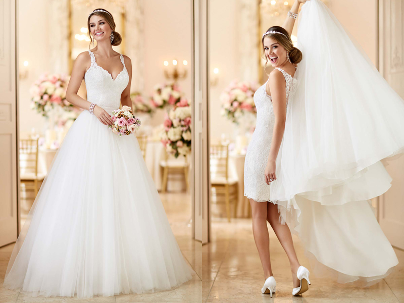 Simple Wedding Dresses Two Piece Bridal Gown 2: Two Gowns In One! 26 Fashion-Forward Convertible Wedding