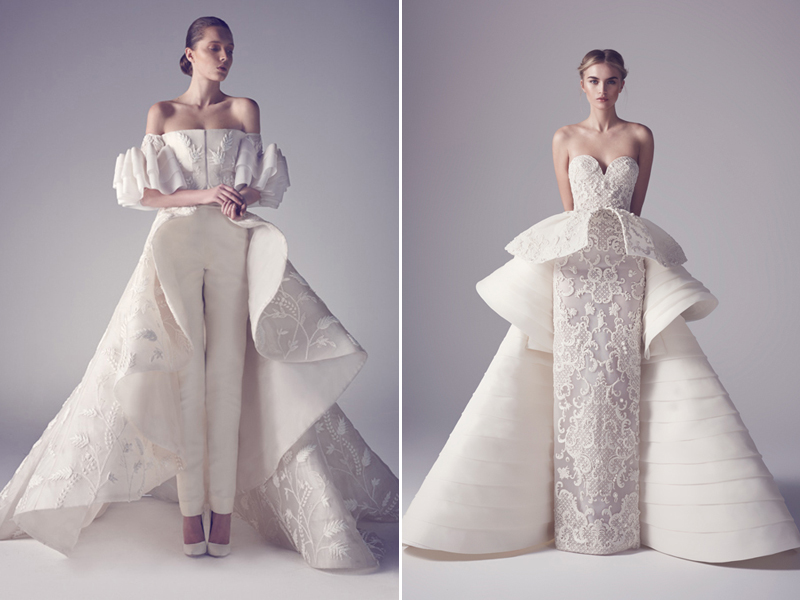 Two gowns in one 26 fashion forward convertible wedding dresses 13 ashi studio01 junglespirit Image collections