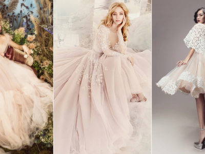 A Romantic Touch of Color – 25 Sweet Blush Wedding Gowns!