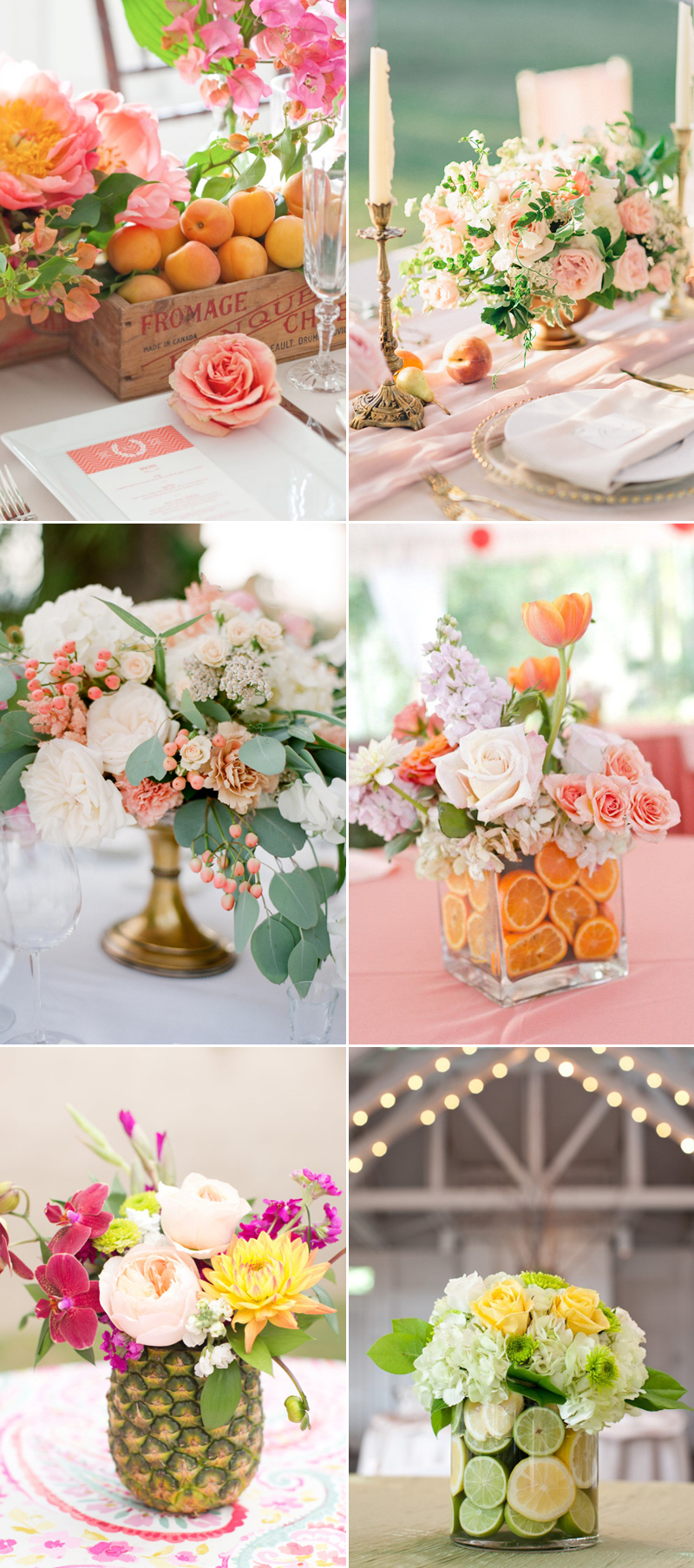 22 Romantic Fresh Flower Centerpiece Ideas For Spring Weddings