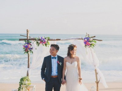 Utterly Romantic Nautical Beach Wedding (from Mark of The Stage)