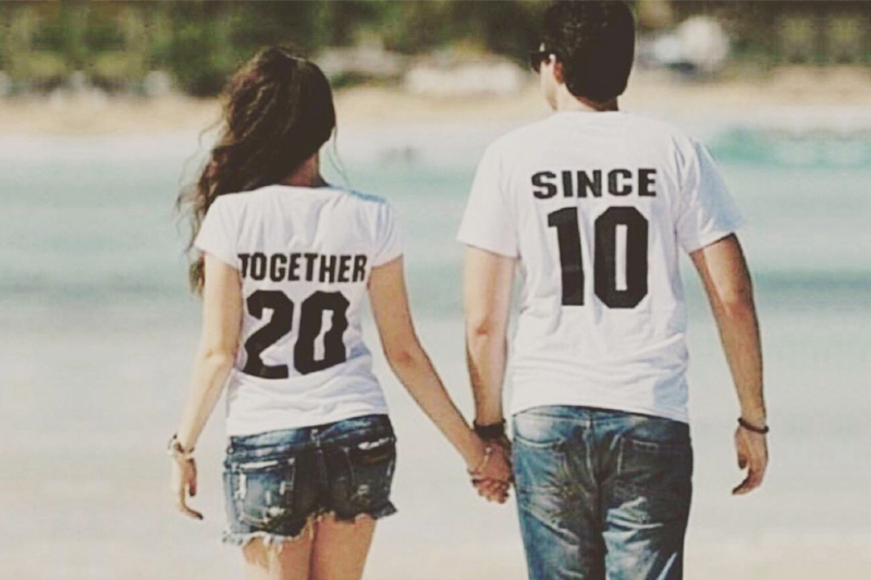 01-Together-Since-Customized-T-shirt