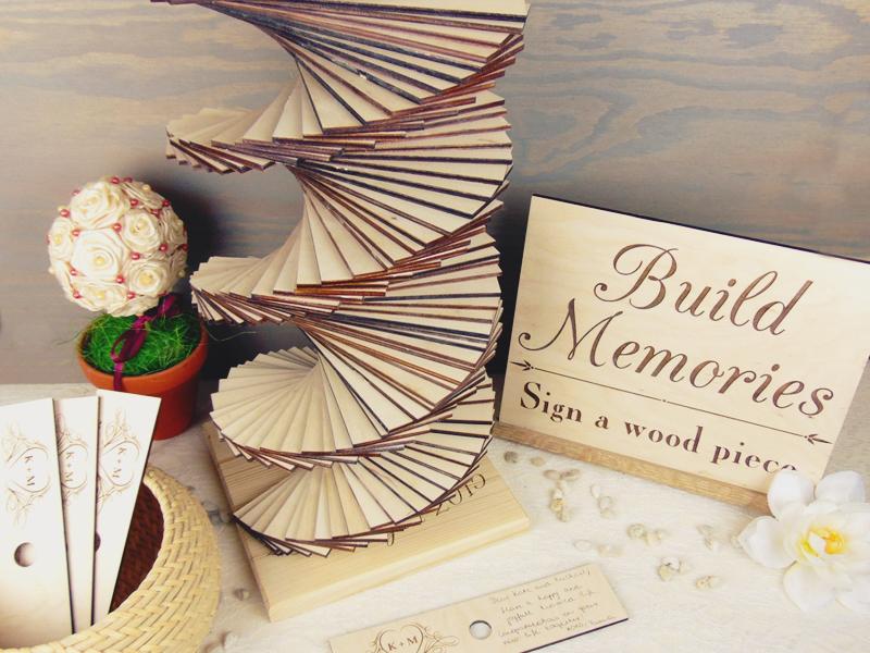 04 Build Memories Wedding Guest Book Tower 1