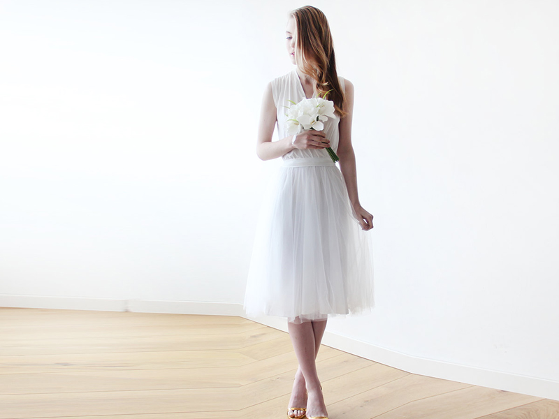05-Ivory Midi Tulle Bridal Gown (1)