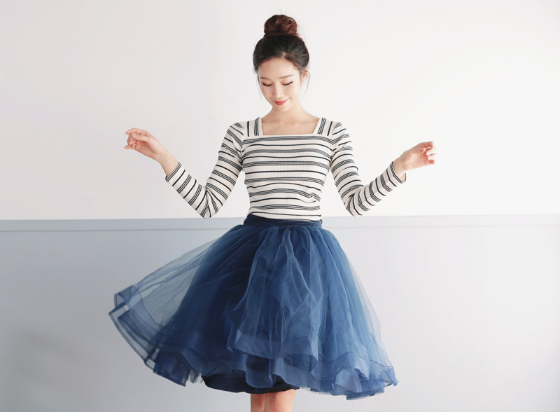 05-Tutu Tulle Skirt with Horsehair Trim
