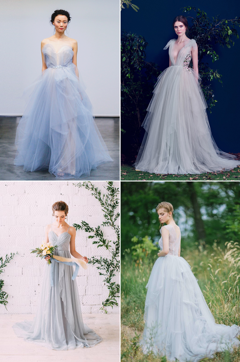 Unexpected Hues 30 Whimsical Colored Wedding Dresses For