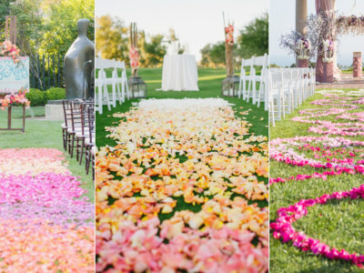 18 Utterly Romantic Ombré Aisle Runner Ideas!