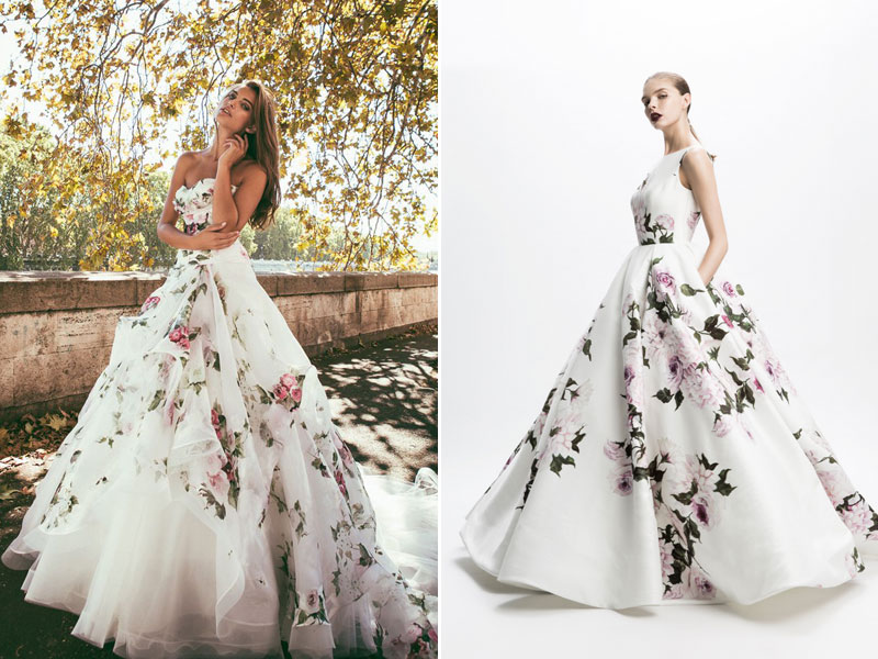 flower print dresses for weddings