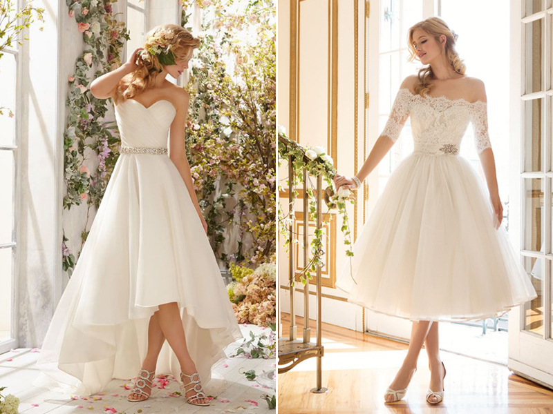 30 Modern Short Wedding Dresses For Summer Brides - Praise Wedding