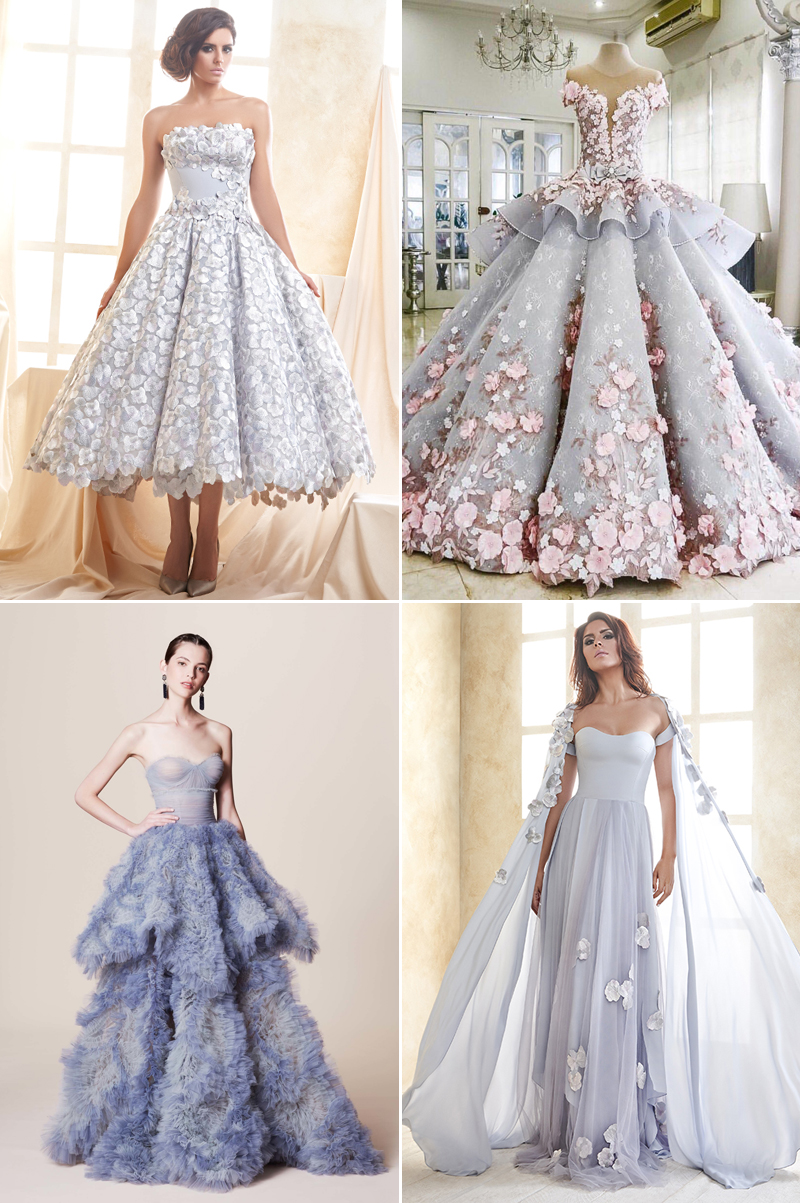 8 Hot Color Trends for Wedding Reception Dresses! , Praise