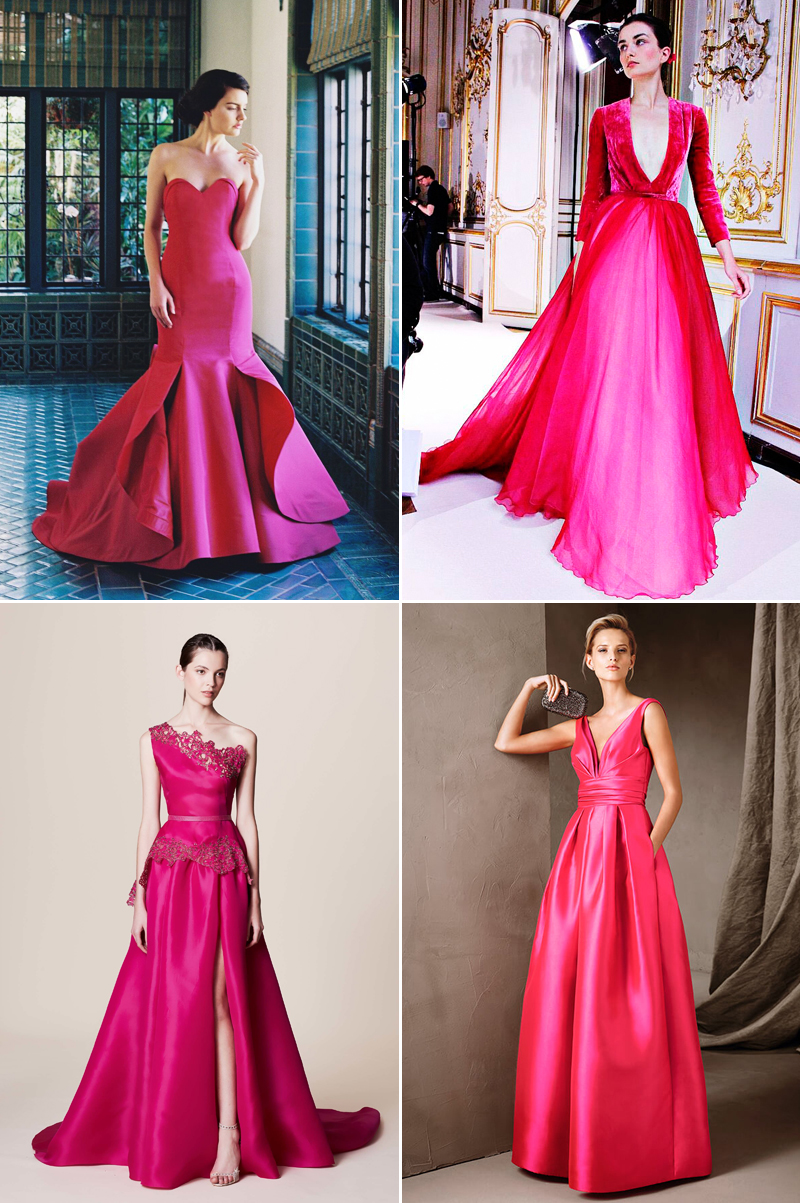 Colored Reception Dresses