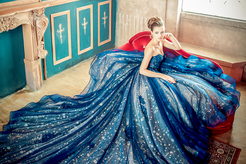 Colored Reception Dresses,Turquoise Reception Dress,reception gown,