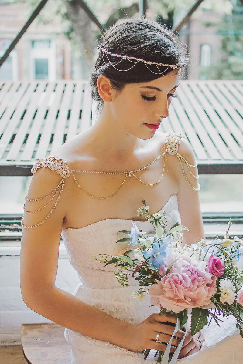 01-Gold Bridal Shoulder Necklace