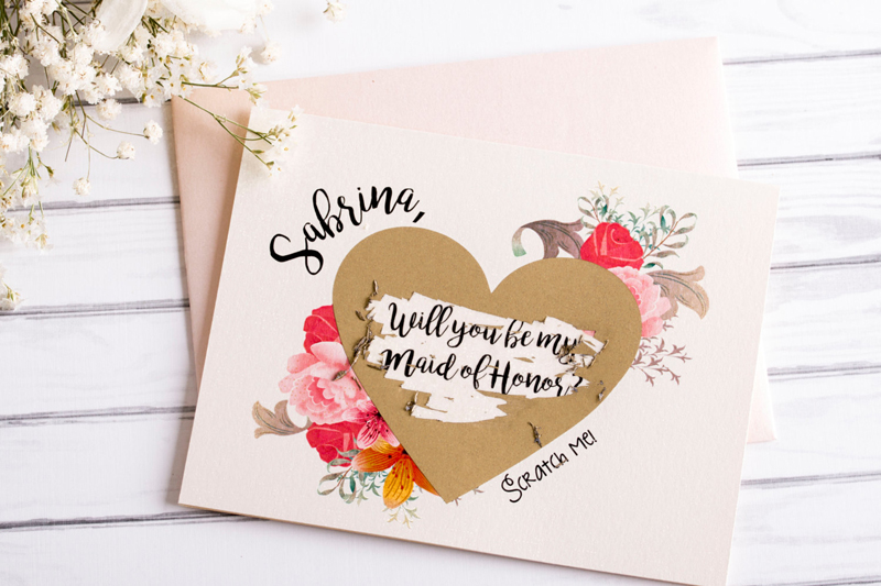 03-Scratch Off Bridesmaid Proposal Card