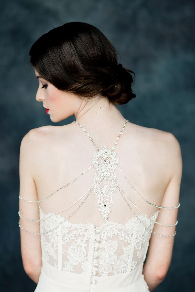 04-Silver Crystal Shoulder Necklace