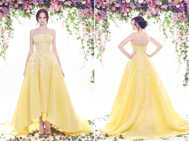 An array of sunshine 20 utterly romantic yellow reception gowns 11 fadwa baalbaki 1 junglespirit Images