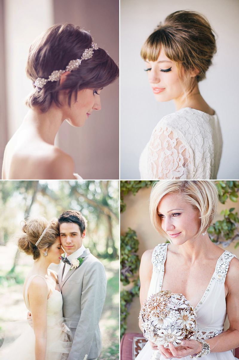 20 totally chic on-trend ways to style your bridal bob! - praise