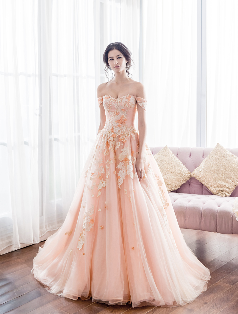 Peach is the new pink 32 sweet and romantic peach gowns you must dress anovia bridal couture junglespirit