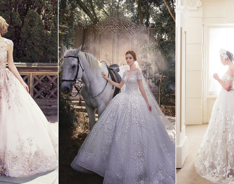 A Touch of Sparkle! 30 Beautiful Wedding Dresses with Glittering Lace Appliqués!