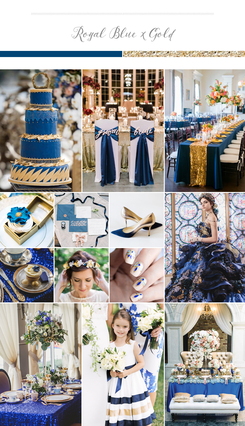 Sophisticated Rich And Elegant Wedding Palette Royal Blue Gold