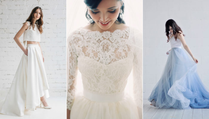 Build Your Own Wedding Dress With Bridal Separates! Here Comes Our Favorite Two Piece Wedding Gowns!