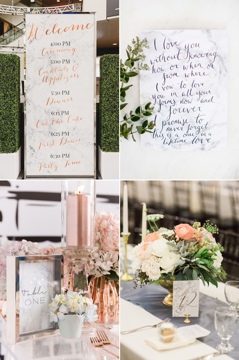 20 Marble Inspired Wedding Ideas For Modern Stylish Couples ...