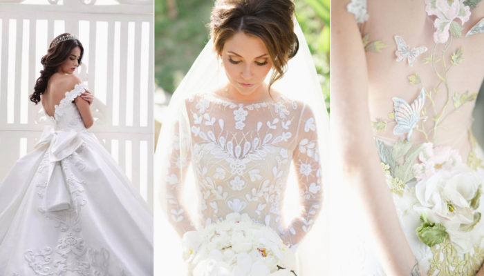 17 Distinctly Stunning Wedding Dresses with Breathtaking Patterns!