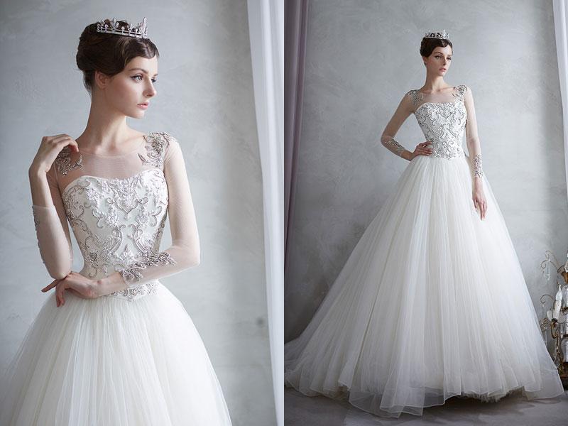 24 Elegant Wedding Dresses with Jeweled Botanical Embellishments ...
