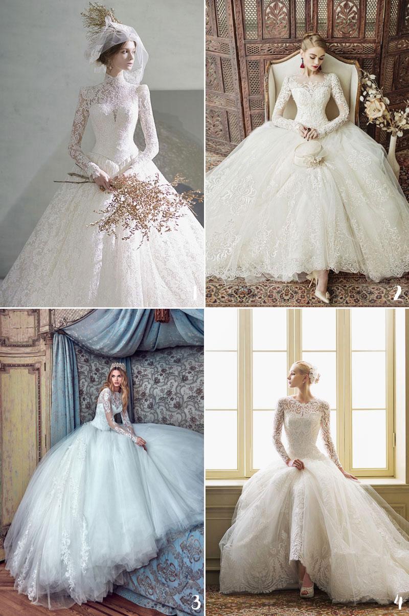 Laced White Wedding Dresses