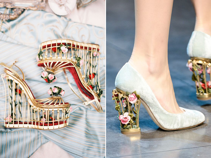 15 Magical Wedding Shoes Featuring 3d Embellishments