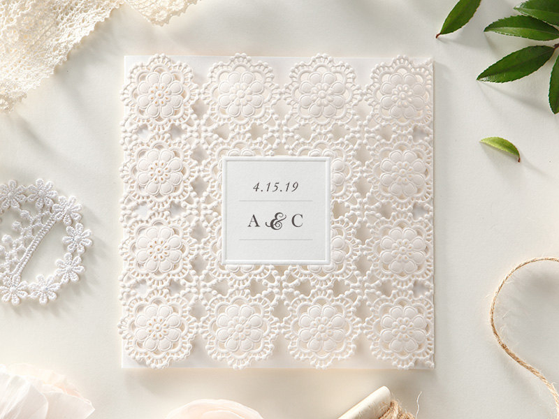 05-Laser Cut Floral Invitations