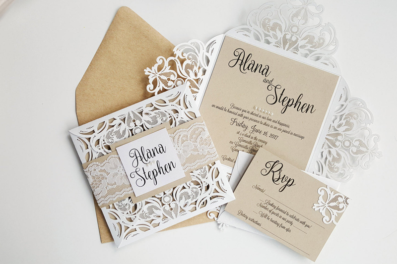 07-Rustic Laser Cut Invitation