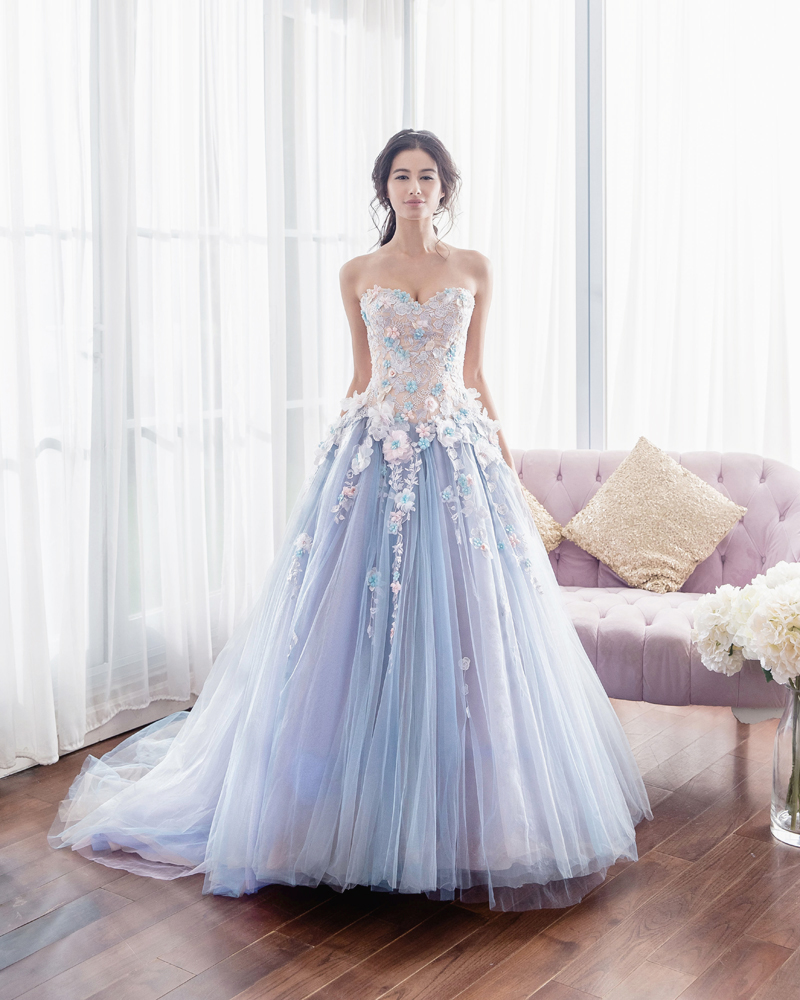 A spring fairy tale 35 enchanting romantic dresses for spring dress anovia bridal couture ombrellifo Image collections