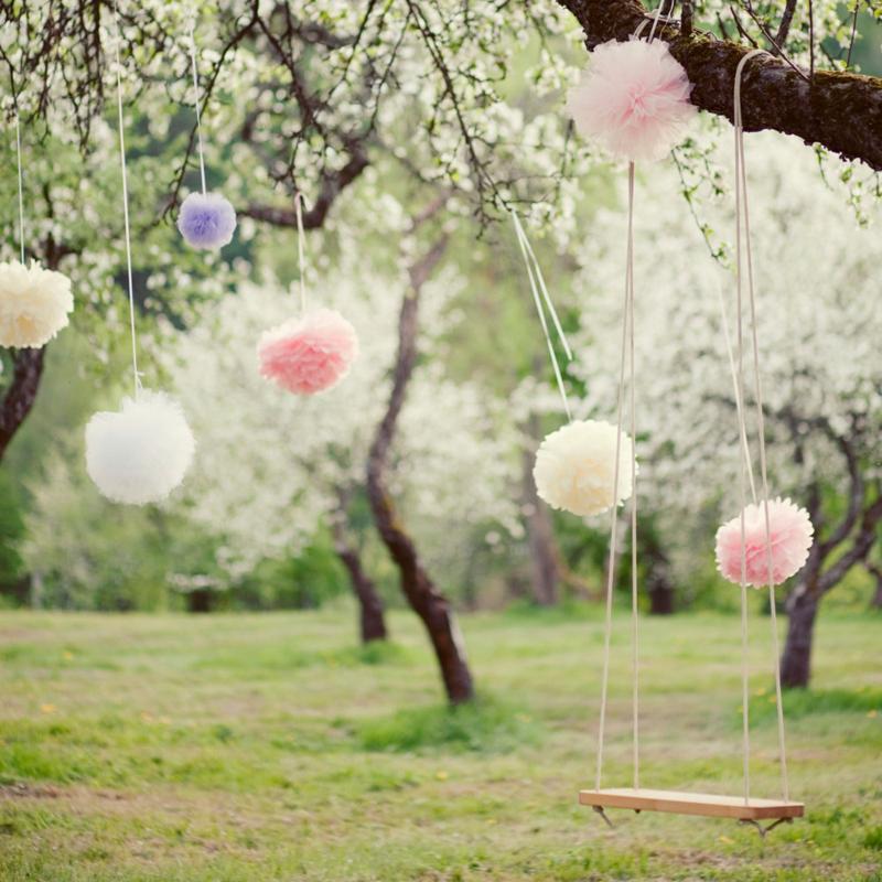 30 creative diy spring wedding decor ideas praise wedding 01 pastel paper pompom junglespirit Image collections