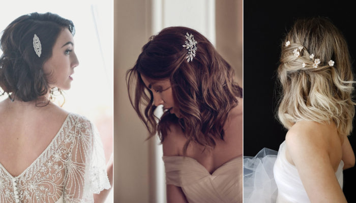 17 Stylish Chic Hair Accessories for Bridal Bob (or Lob)!