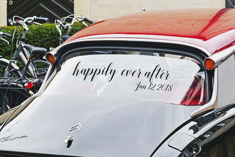 25-Wedding Car Decal