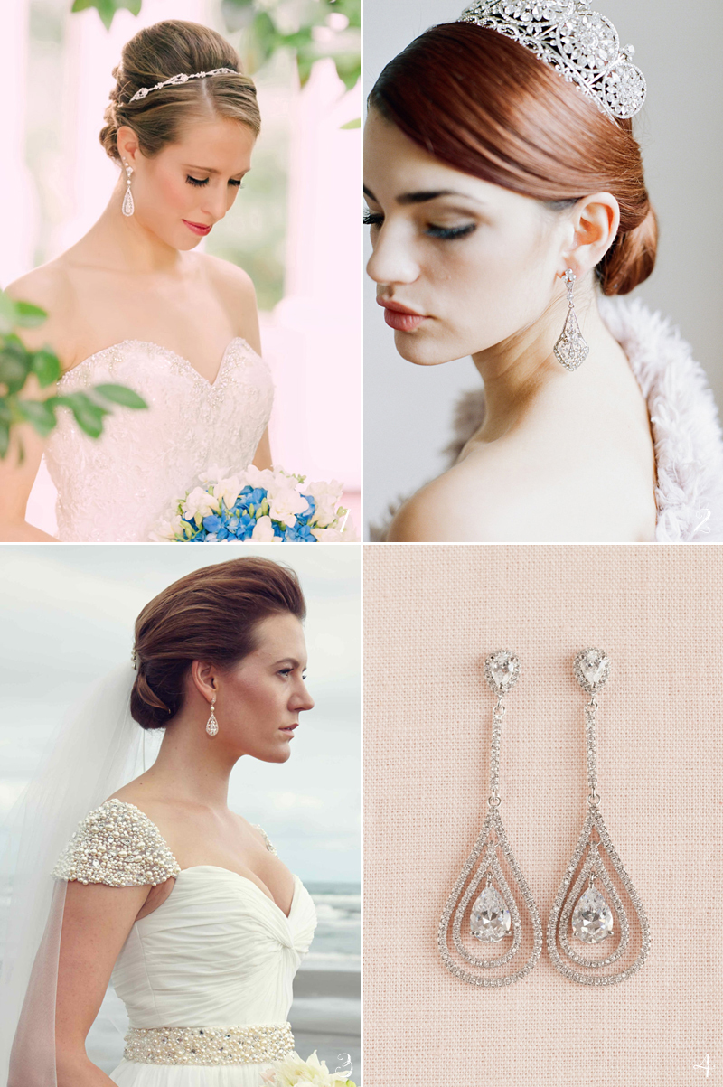 20 flattering bridal earrings for every face shape! - praise wedding